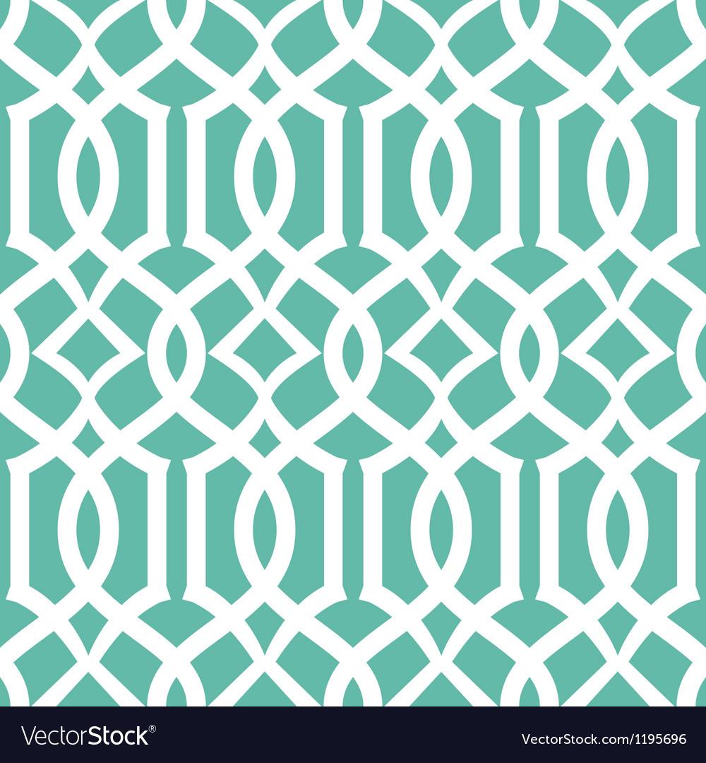 Seamless emerald trellis background pattern vector