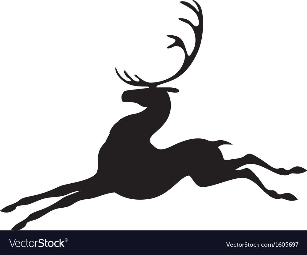 Deer jumps vector