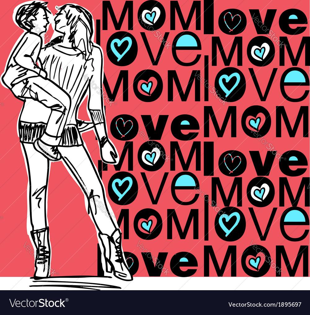 Mom love vector