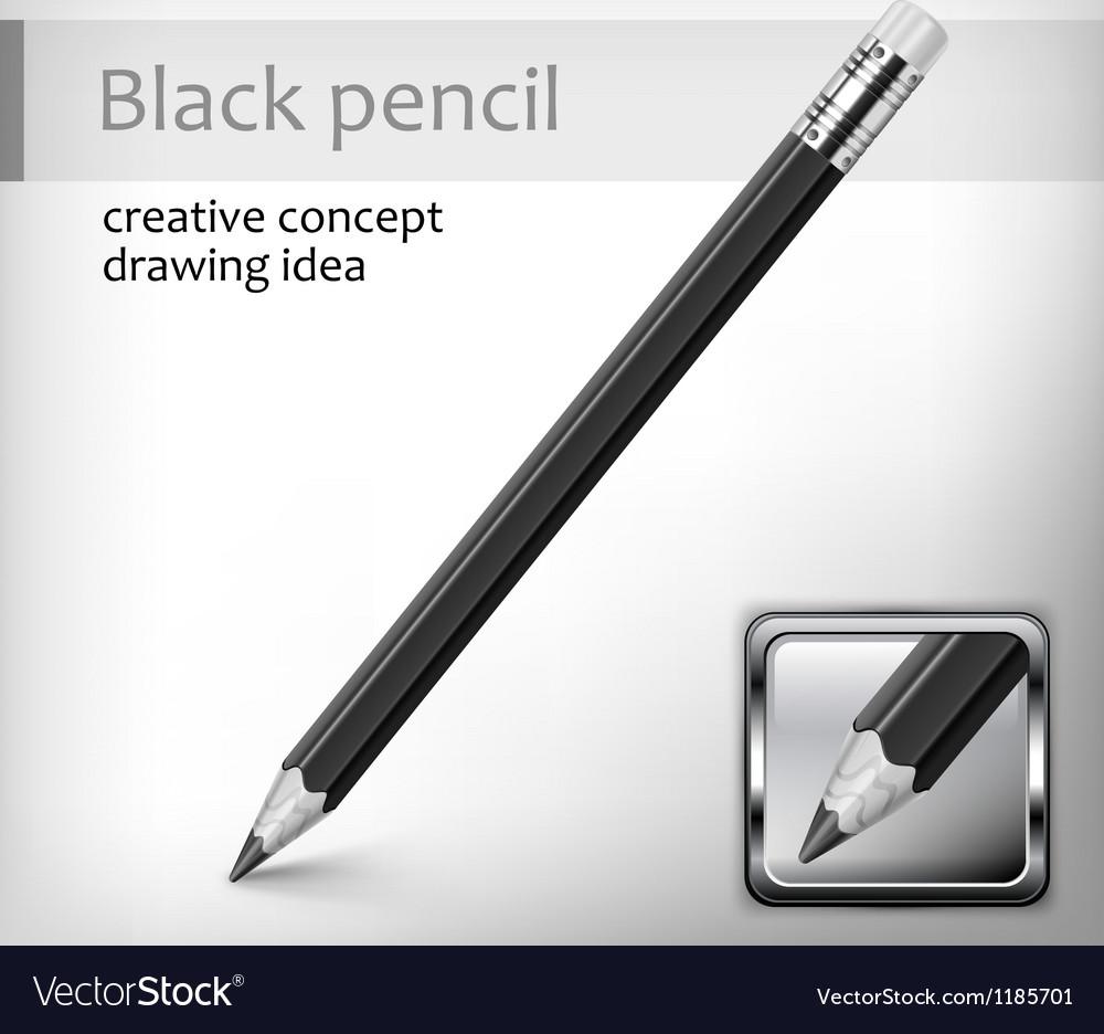 Black pencil idea vector