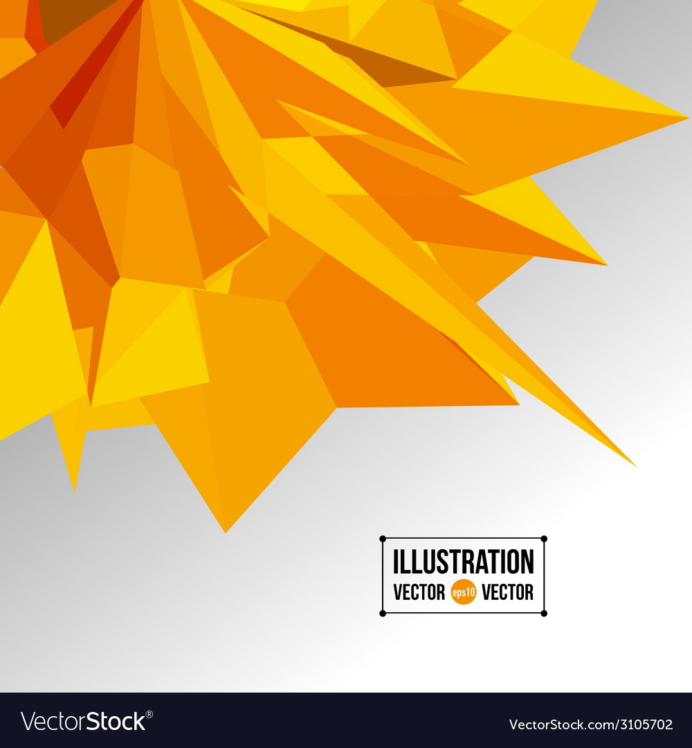 Abstract background of yellow fragments vector