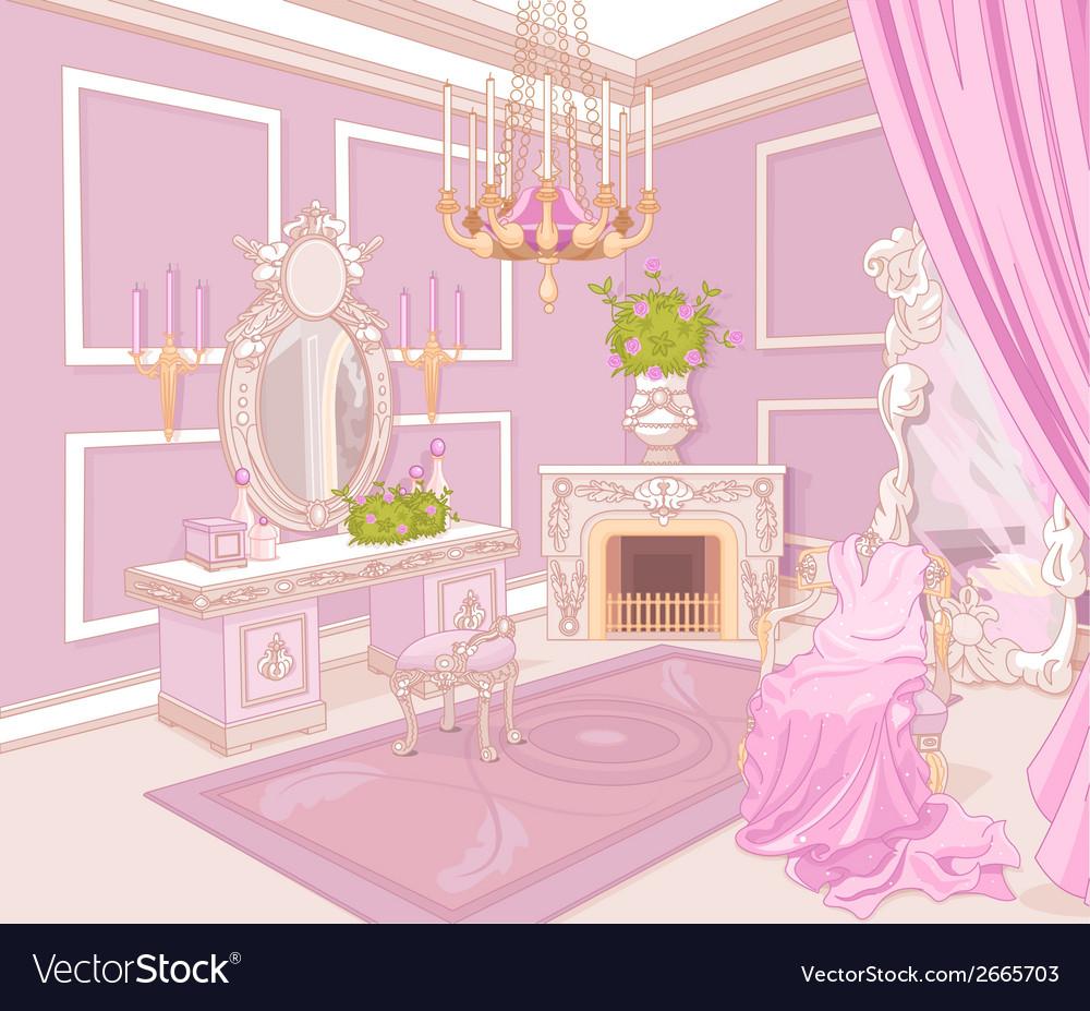 Princess dressing room vector