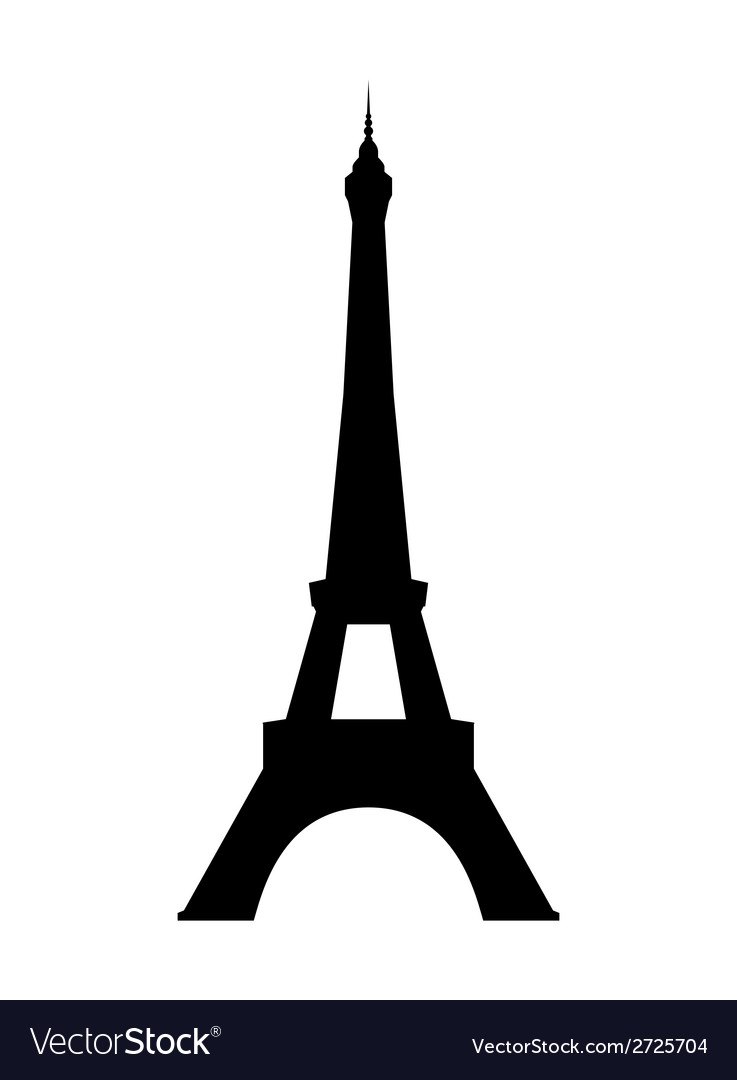 Eiffel tower in paris vector