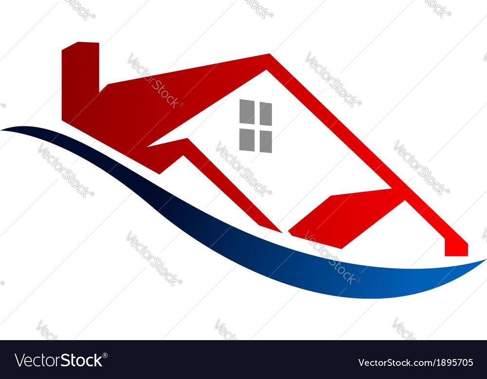 Eco house icon vector