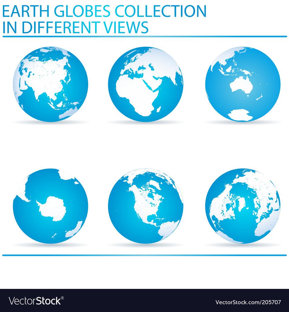 Earth globes vector
