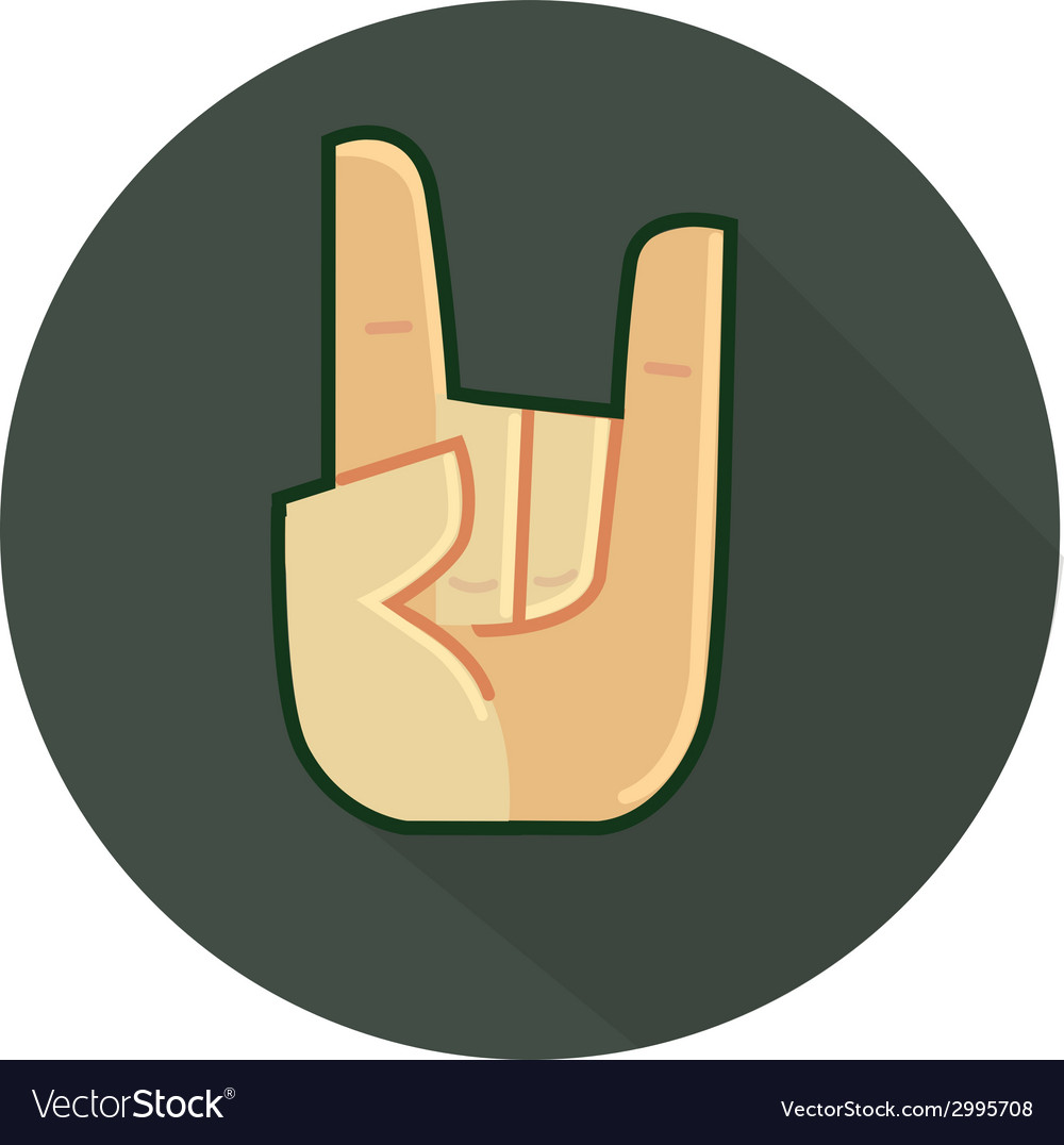 Arm symbol rock and roll style vector