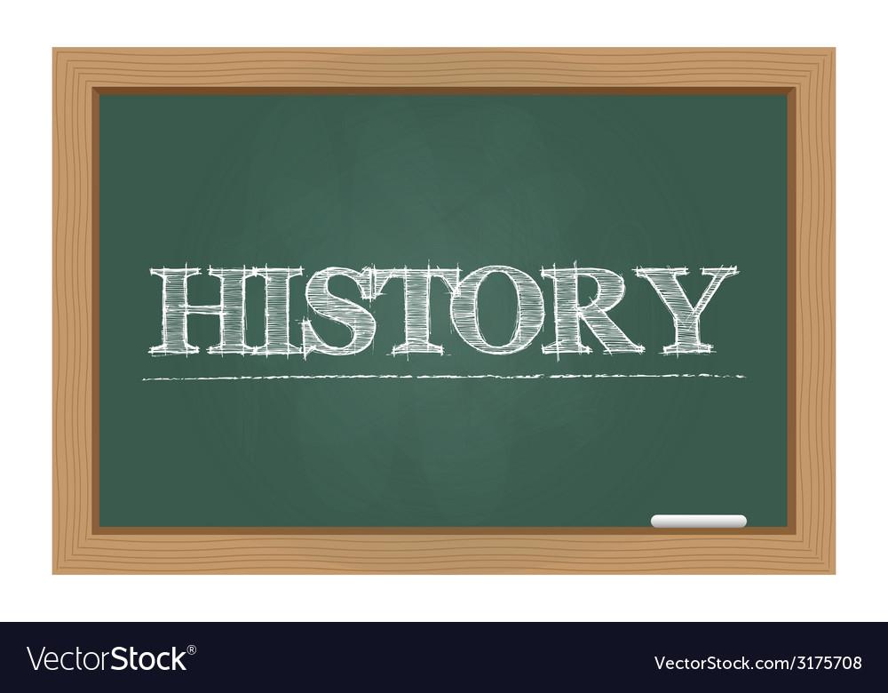 History text on chalkboard vector