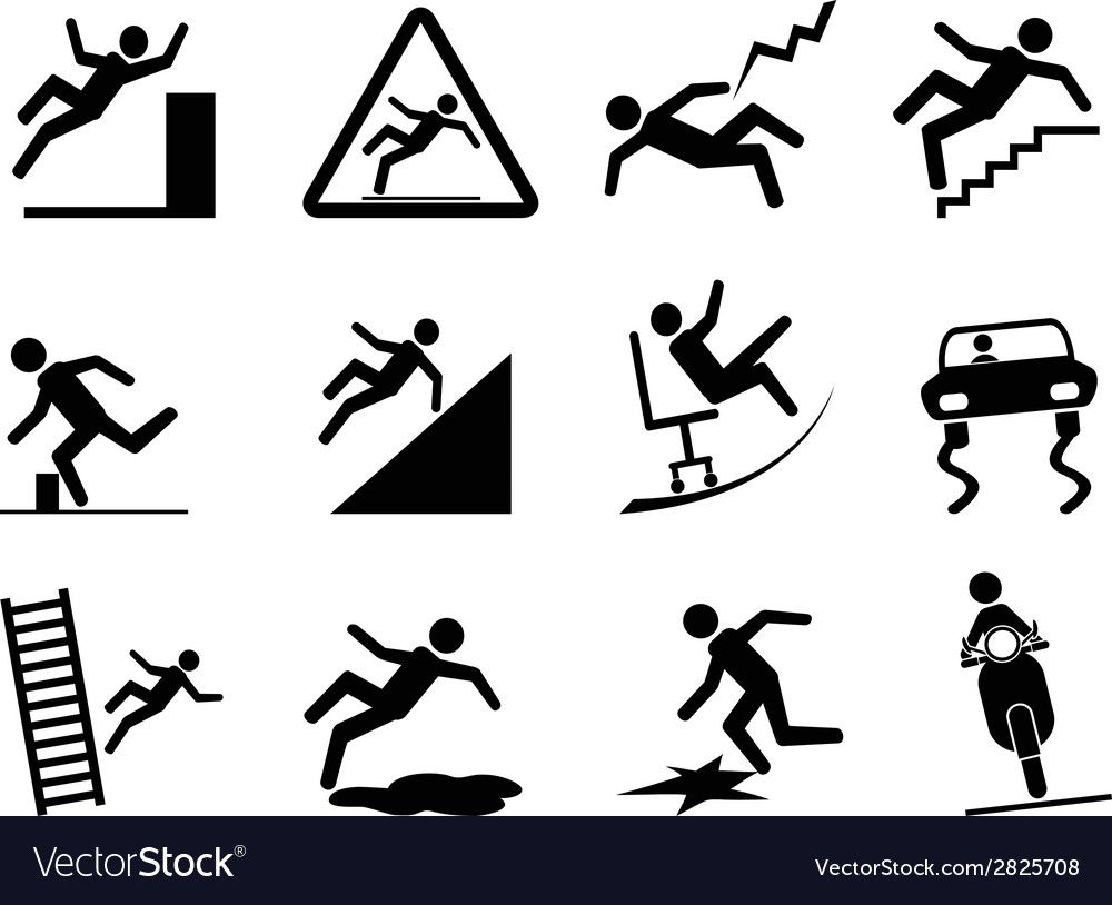 Slippery icons vector