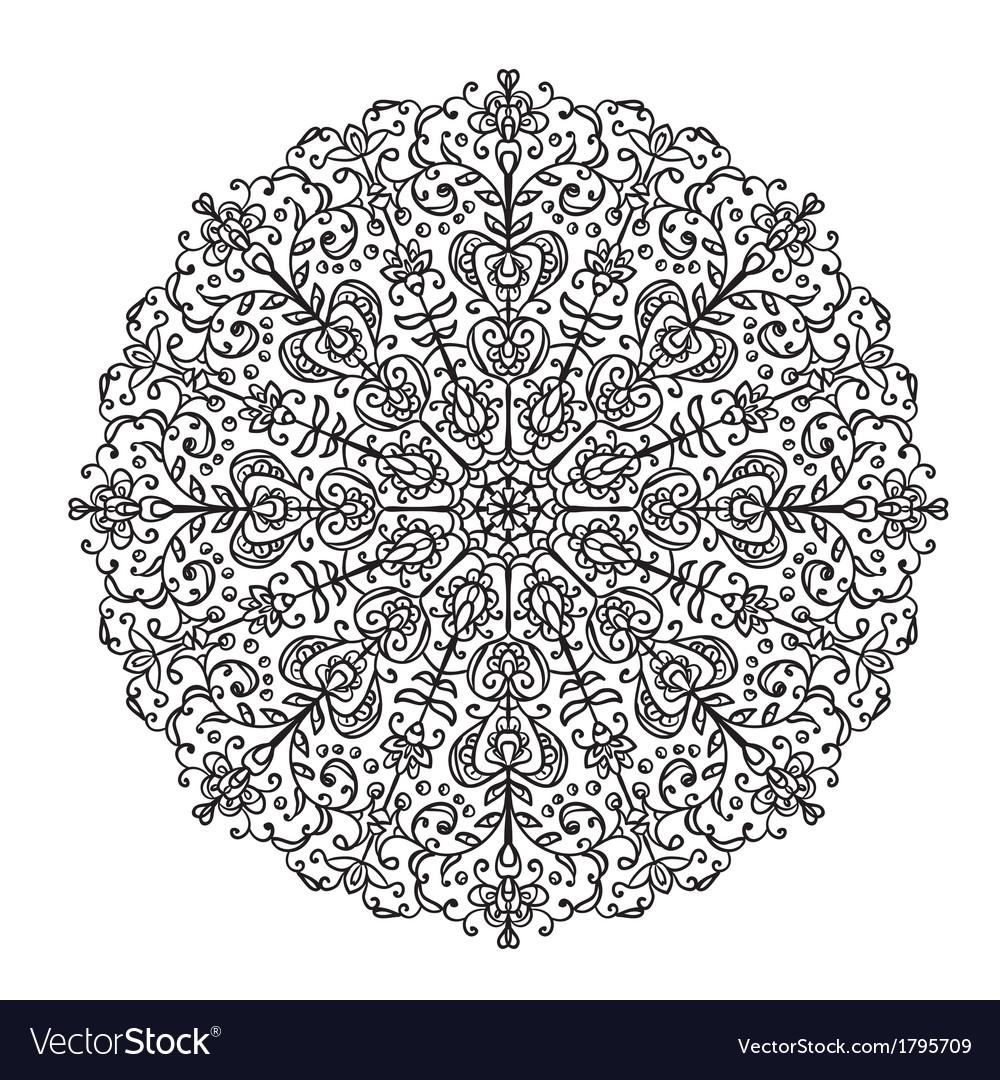Decorative lace ethnic element vector