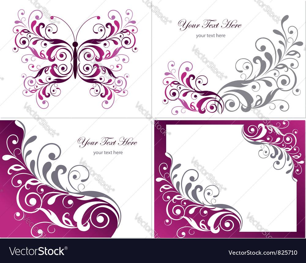 Floral graphics design elements vector