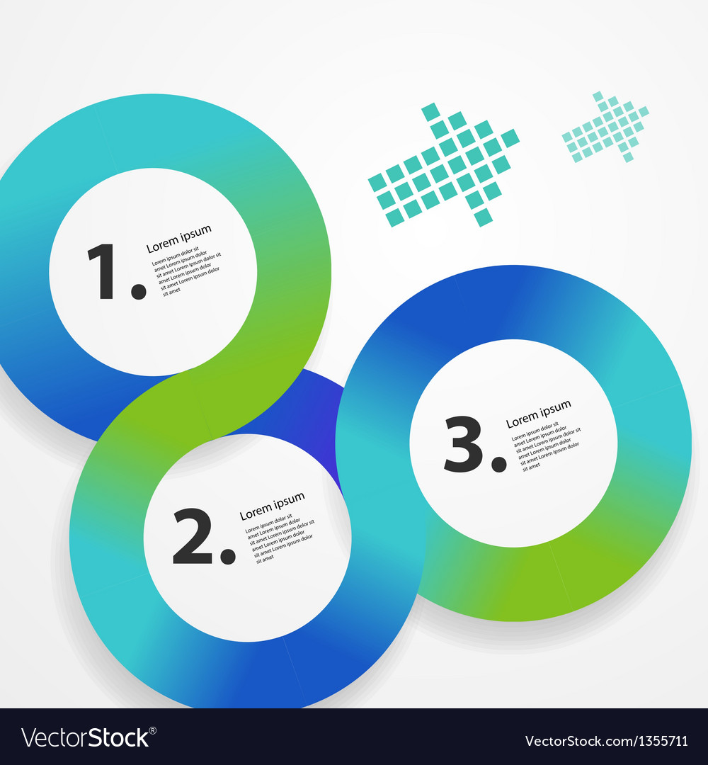 Graphic interface template vector