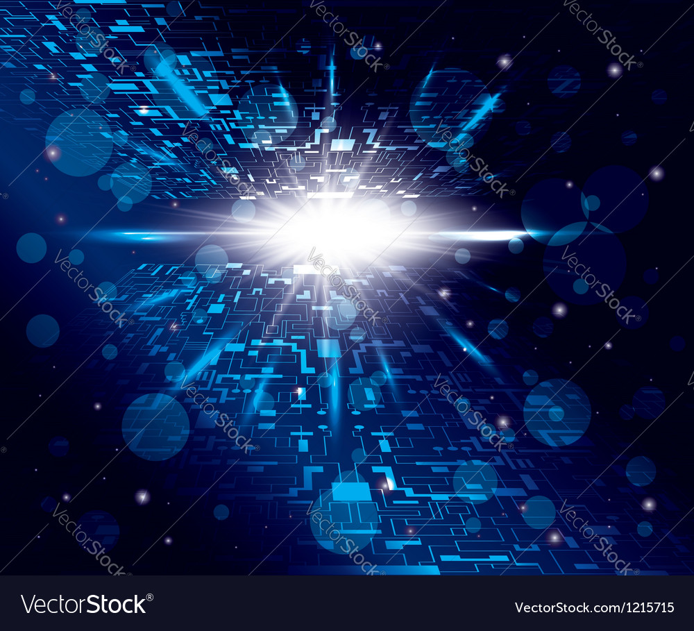 Abstract shiny background with matrix and rays vector