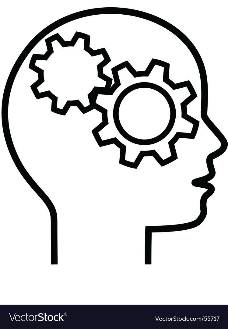 Brain cogs vector