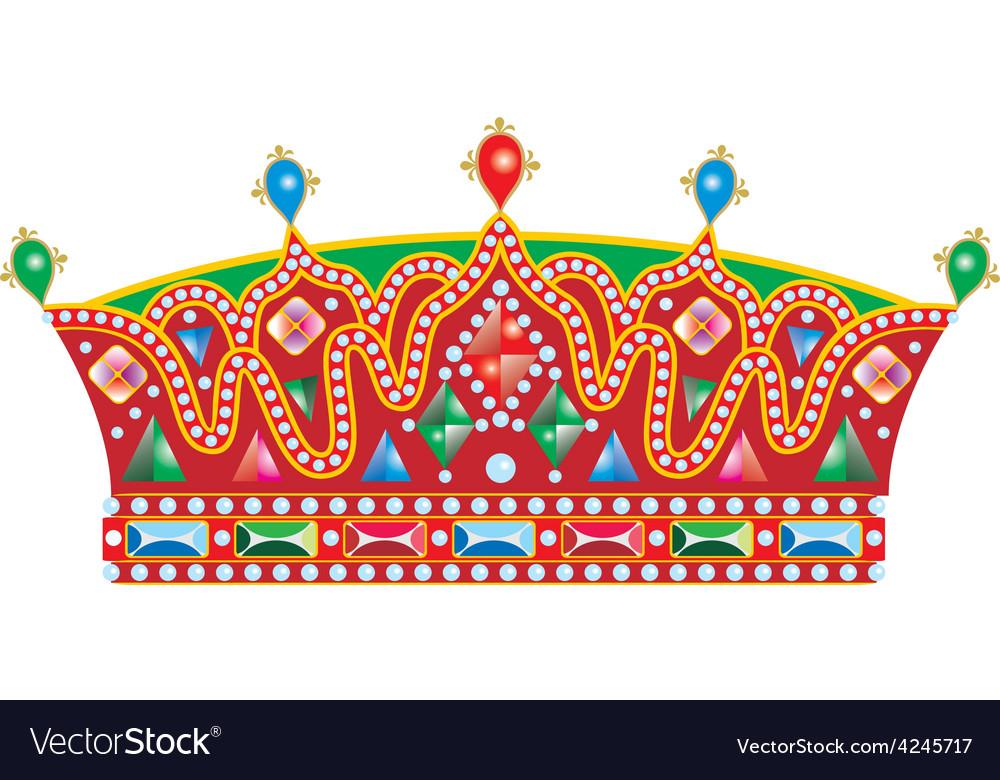Medieval slavic king crown vector