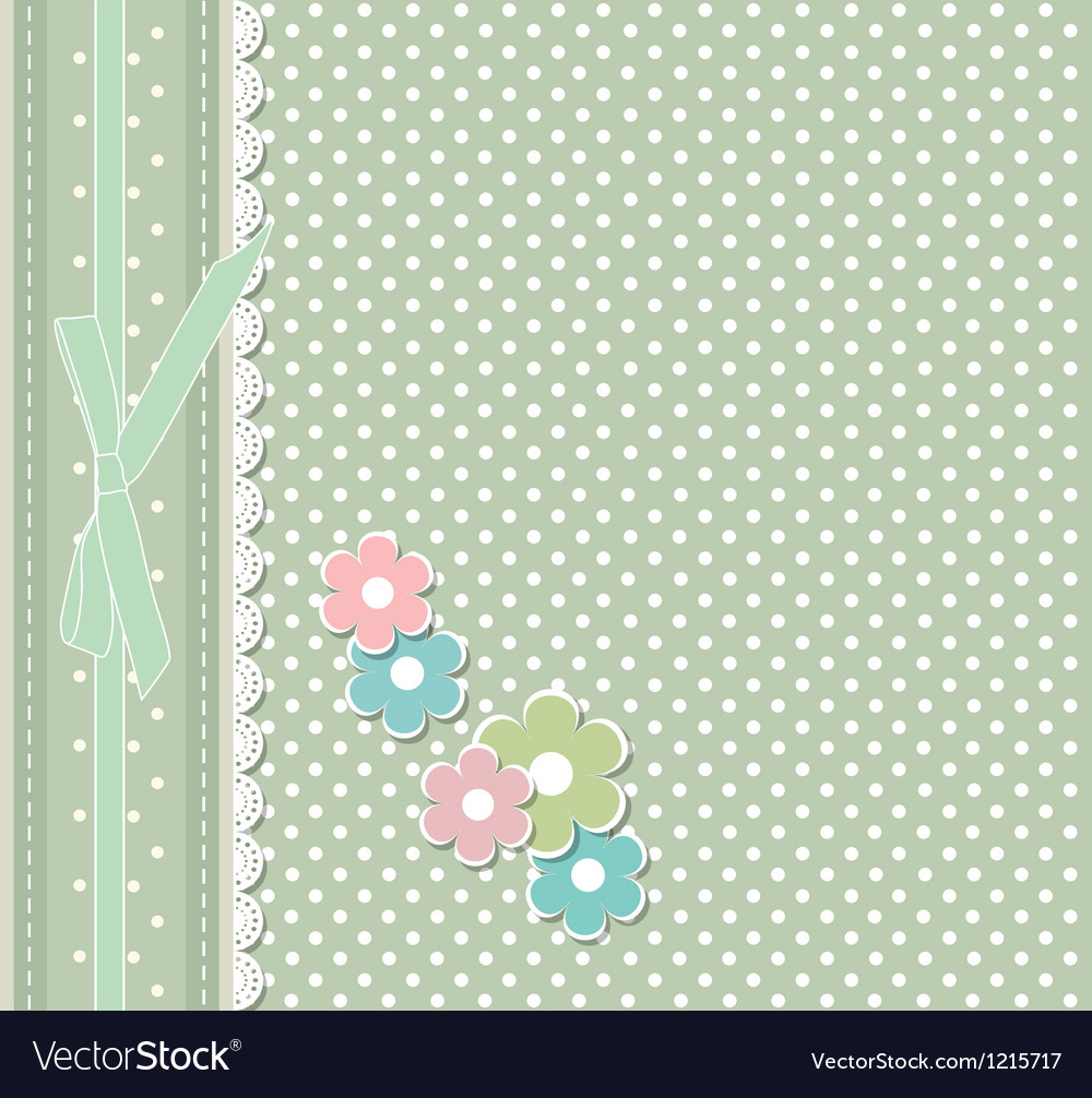 Retro fashion floral greeting card vector