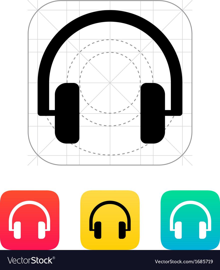 Audio headphones icon vector