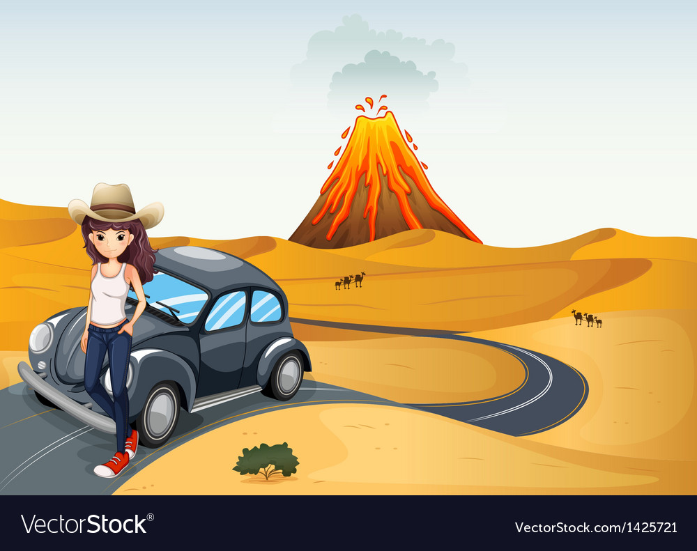 A young teenager on a journey vector