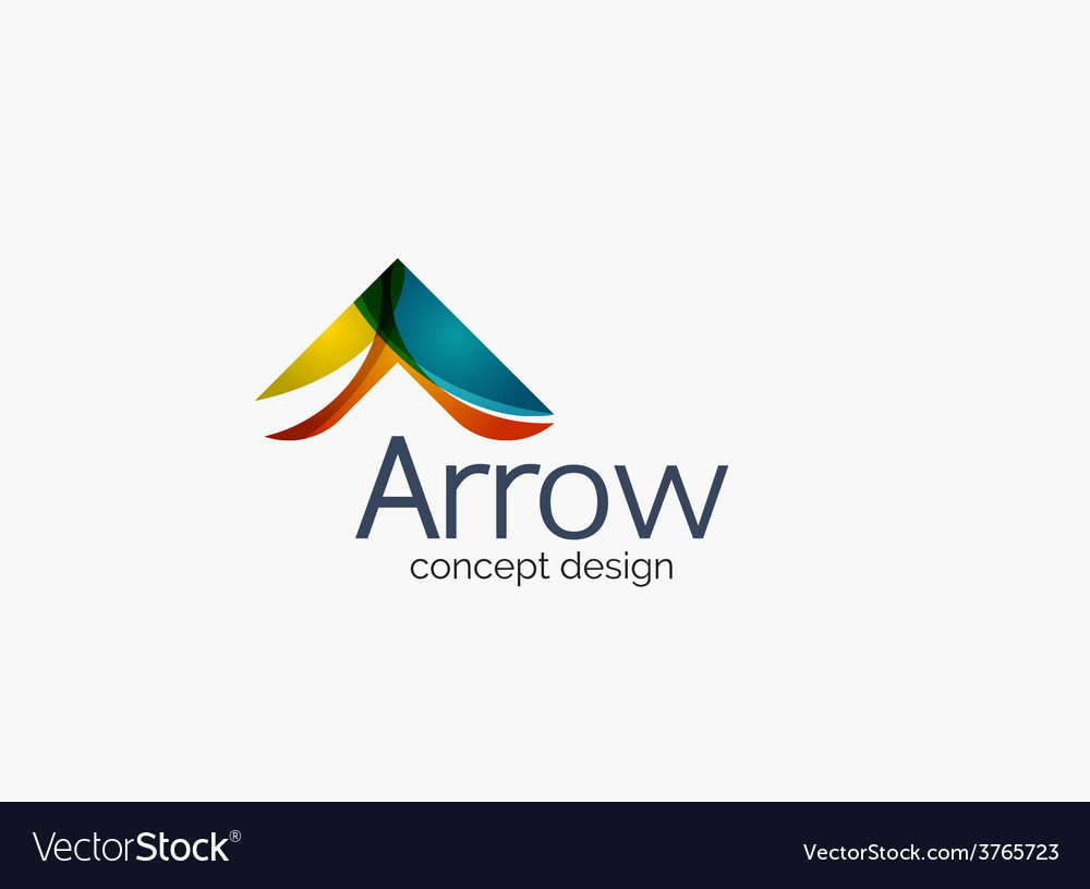 Modern company logo clean glossy design vector