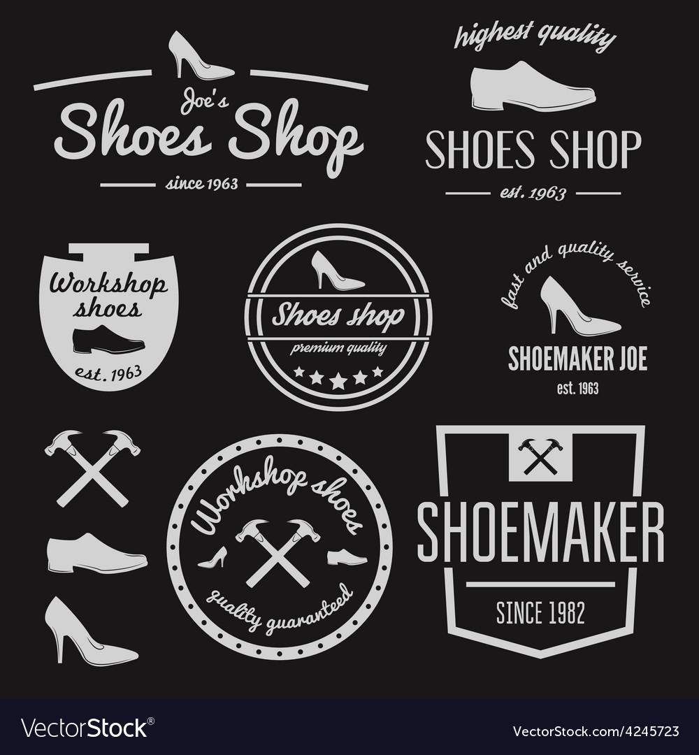 Set of vintage logo badge emblem or logotype vector