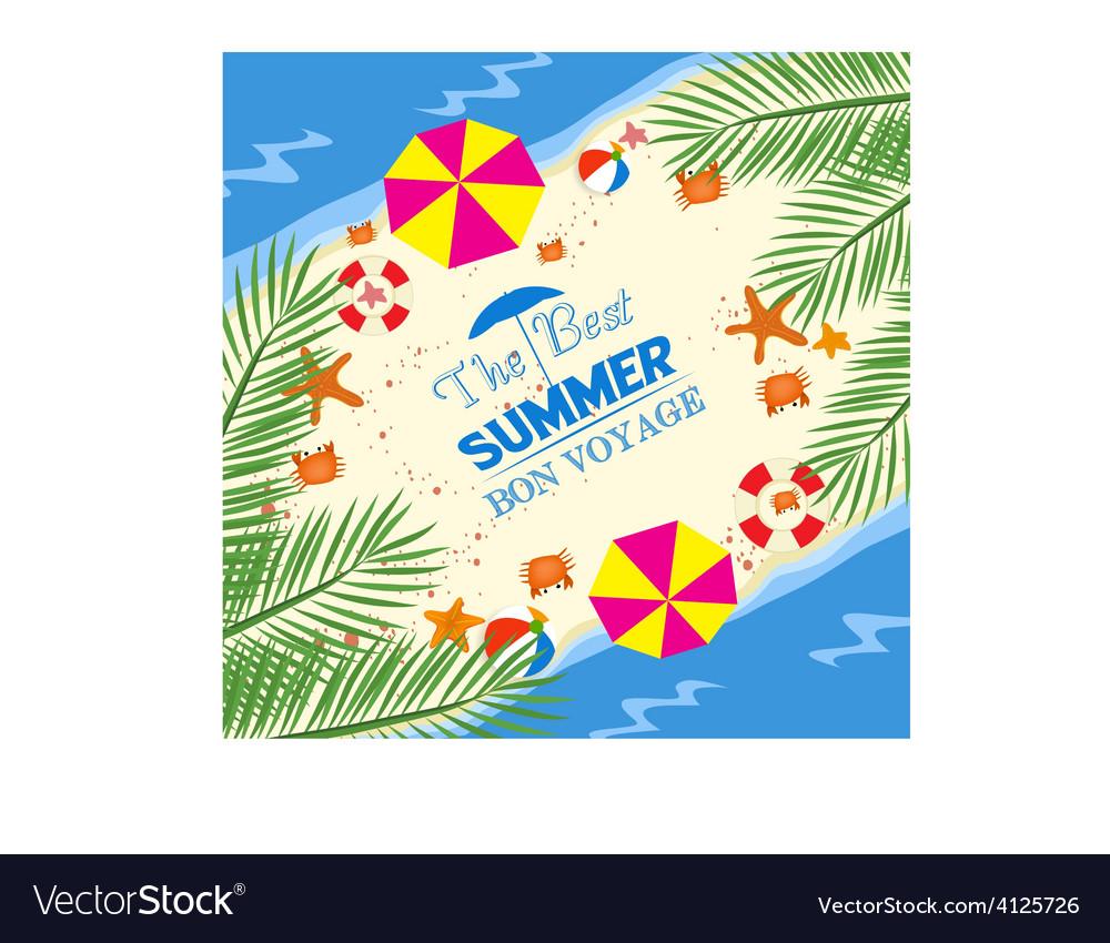Best summer bon voyage vector
