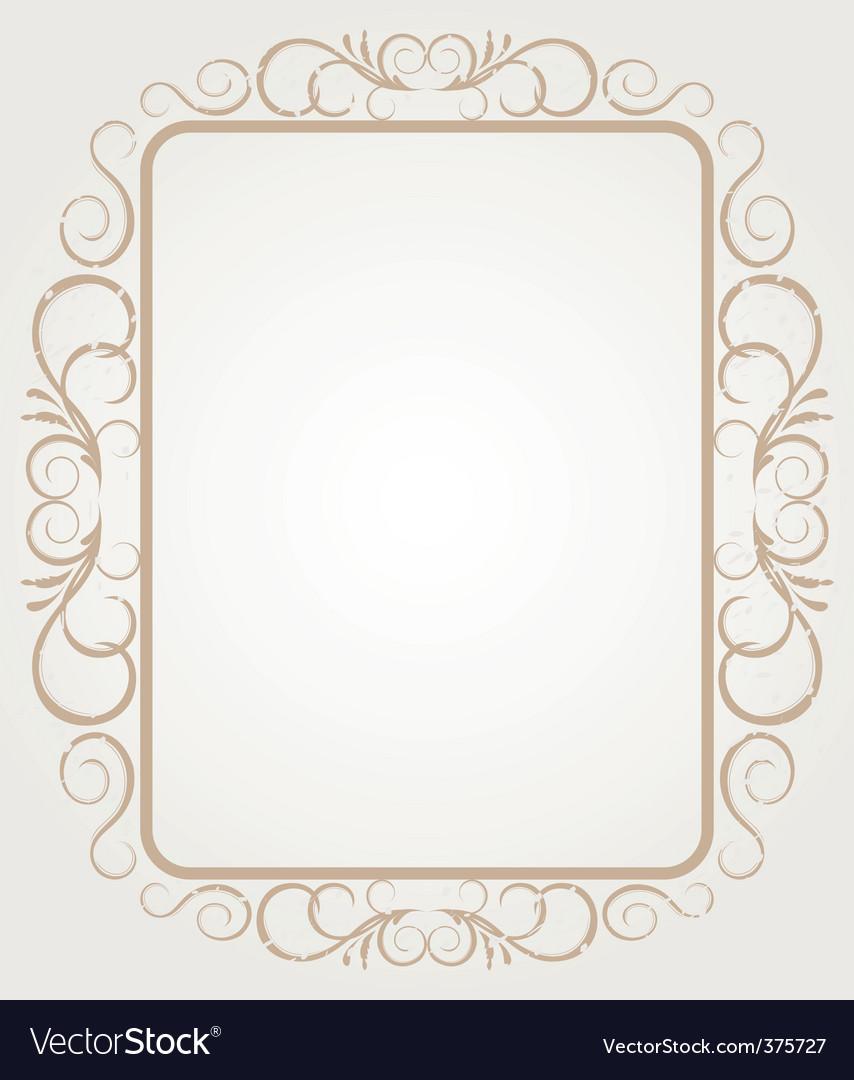 Vintage frame border design vector
