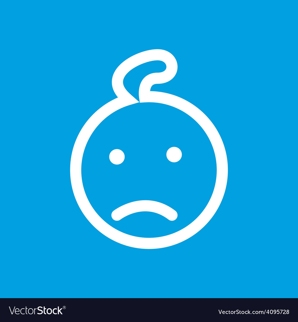 Kid white icon vector