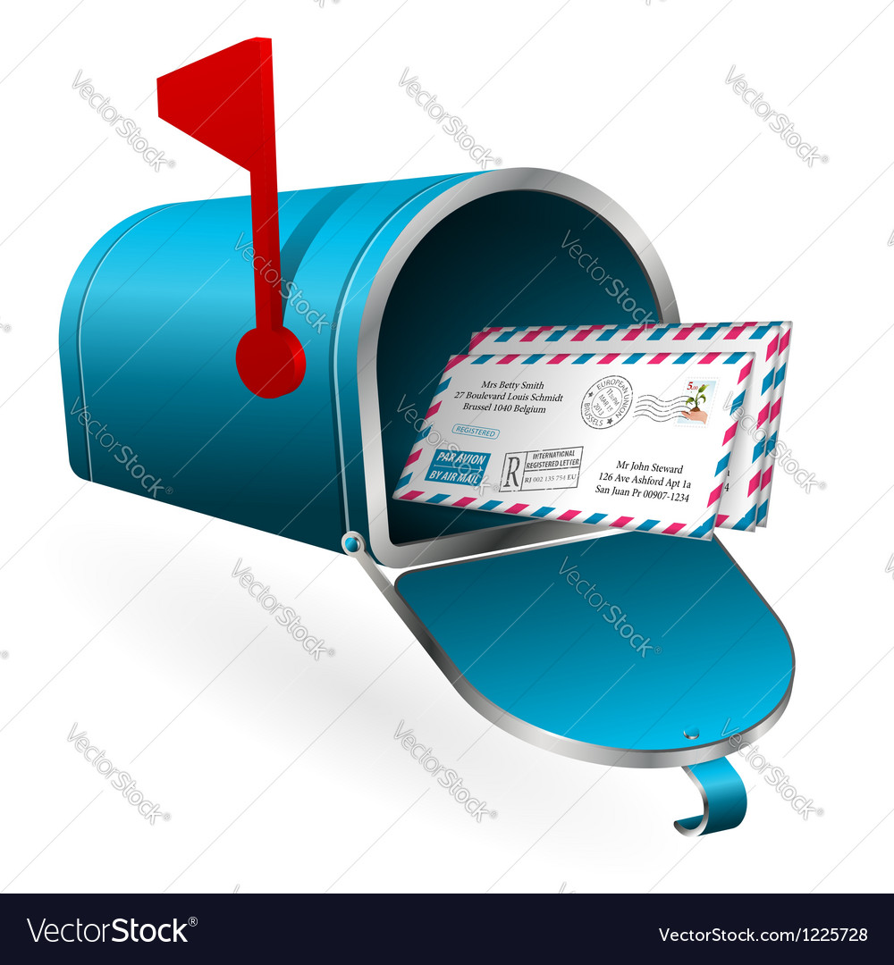 Mail and e-mail concept vector