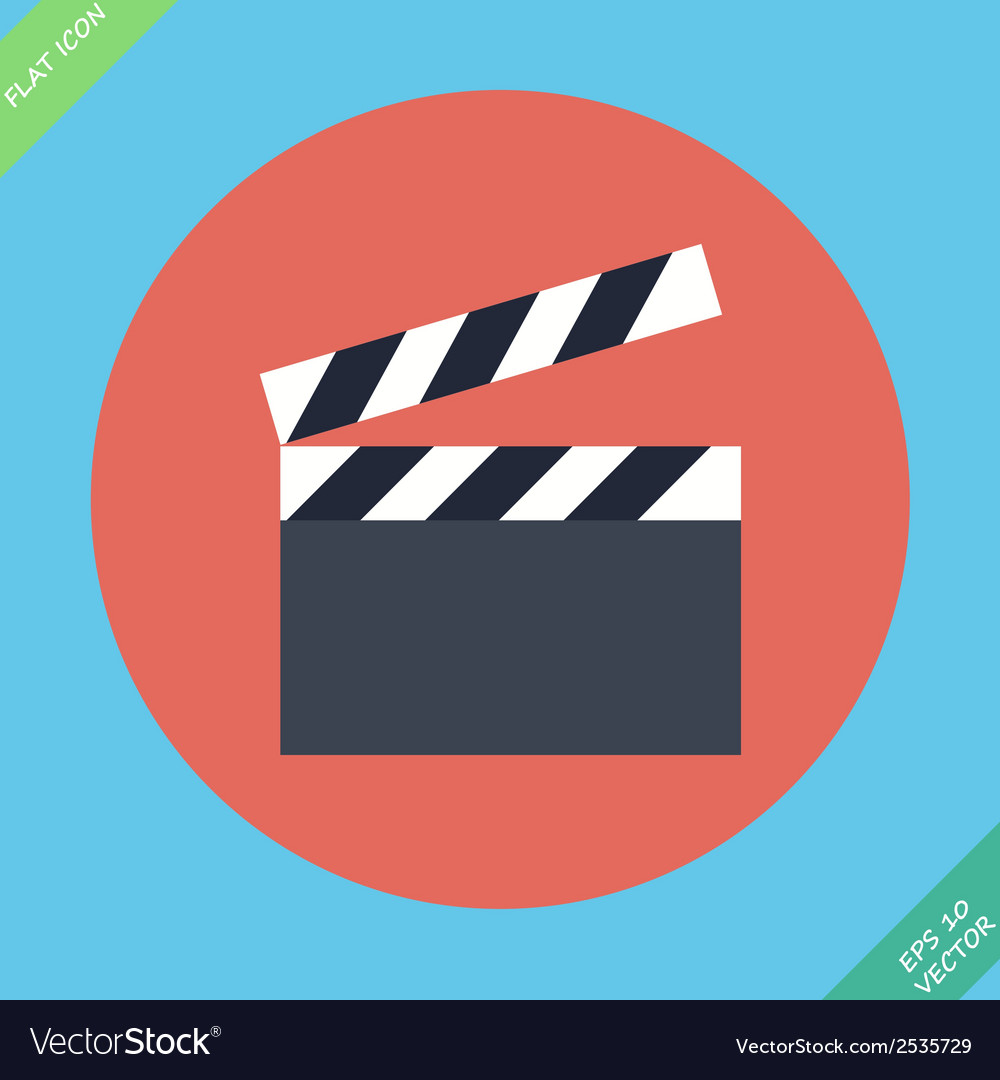 Film clap board cinema - vector
