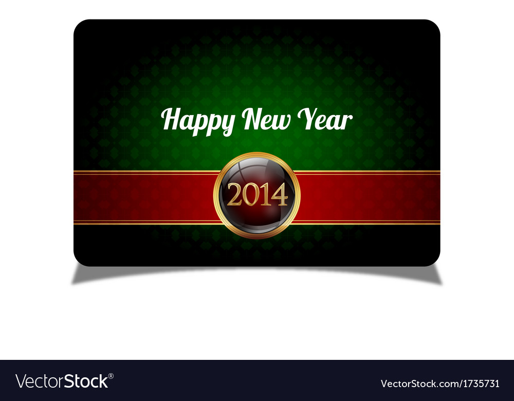 Green new year celebrate card vector