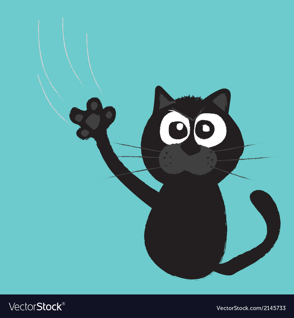 Cat claws scratch a background vector