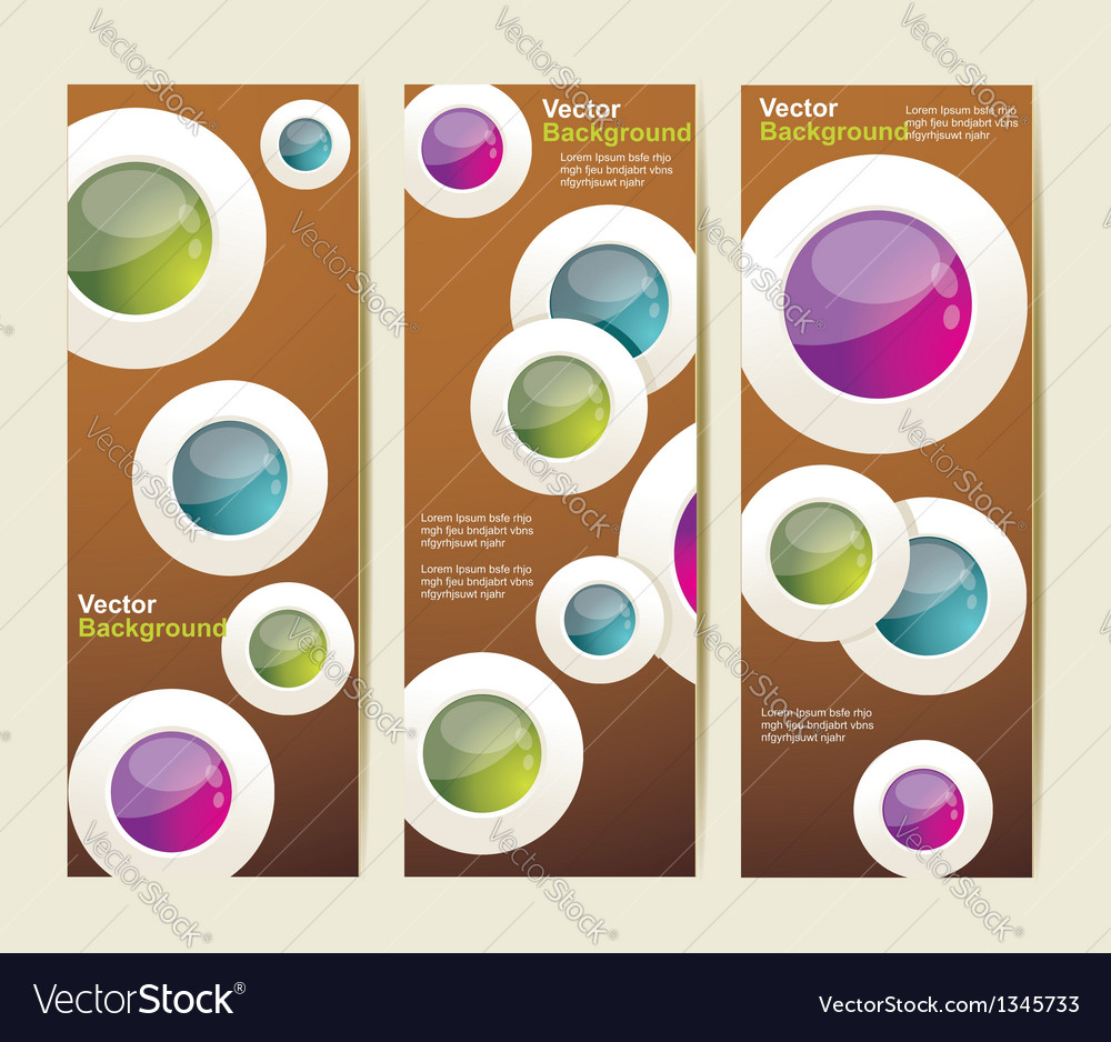 Set of the abstract banners vector