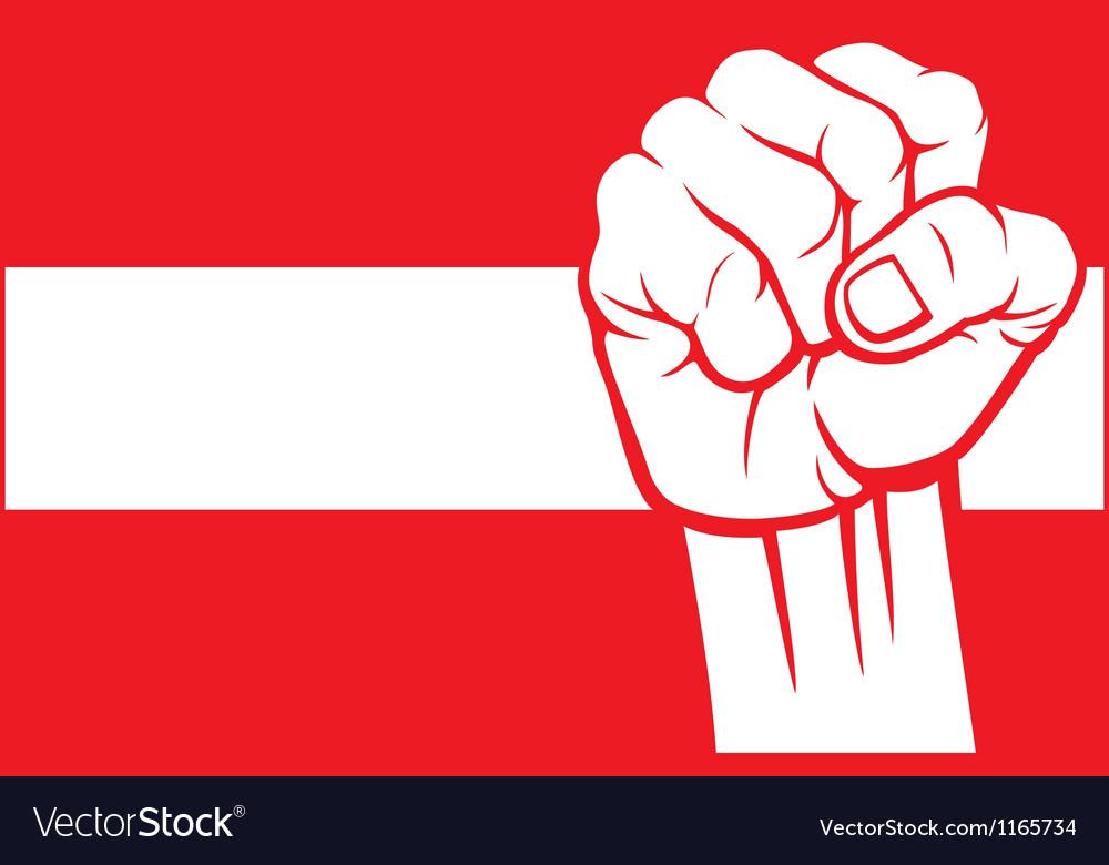 Flag of austria with fist vector
