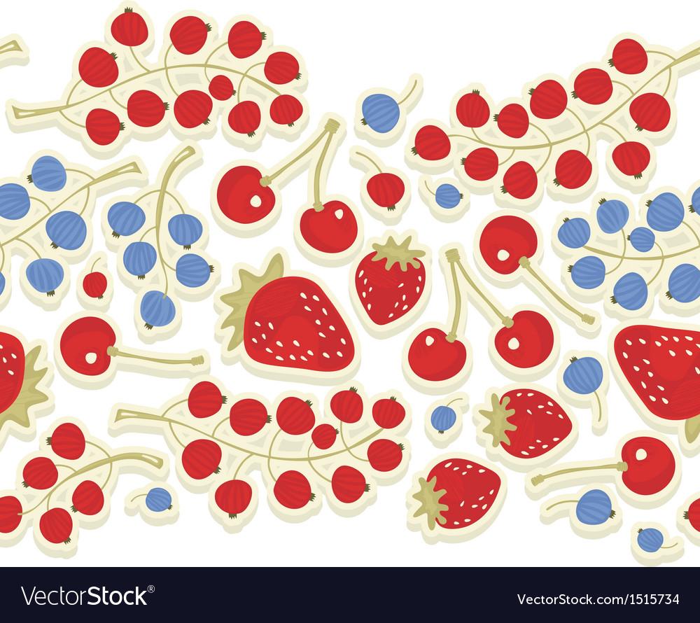 Fruit berry pattern vector