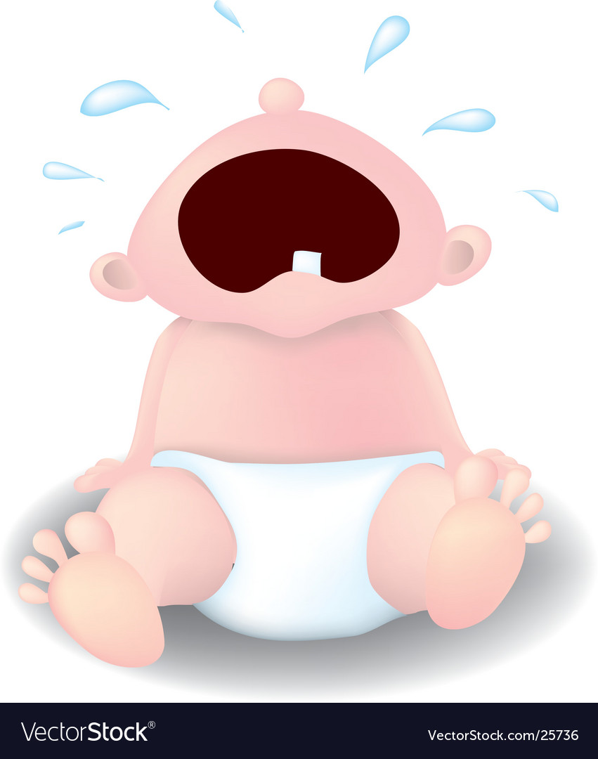 Crying baby vector