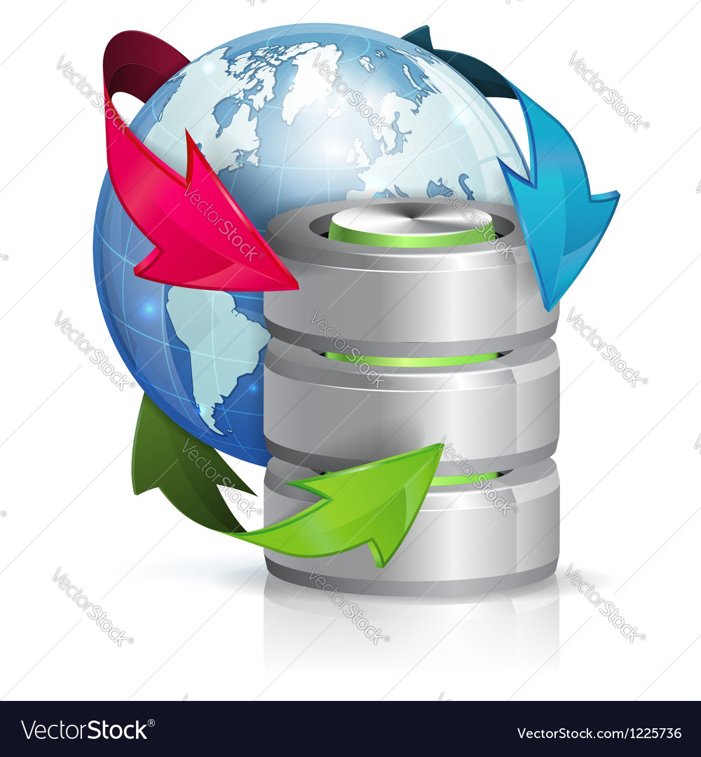 Global access and backup concept vector