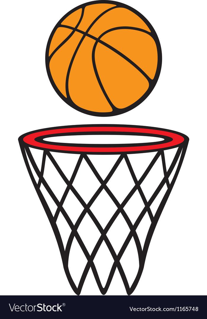 Basketball hoop and ball vector