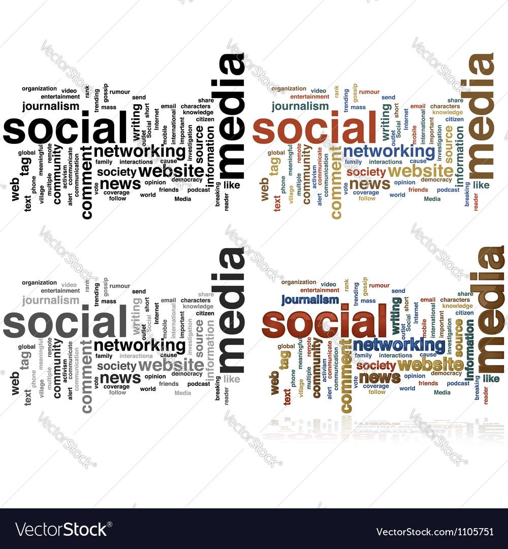 Social media word cloud vector