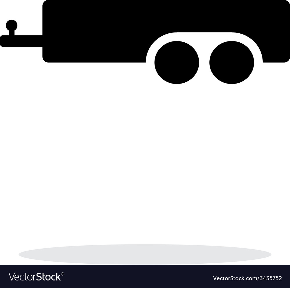 Car trailer simple icon on white background vector