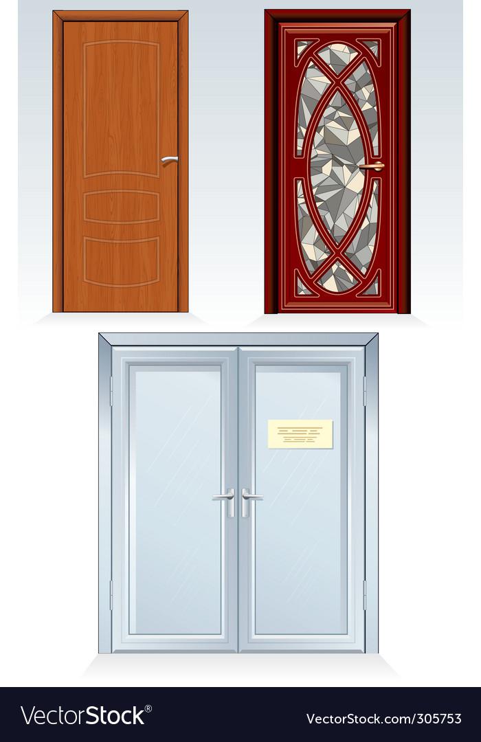 Front doors vector