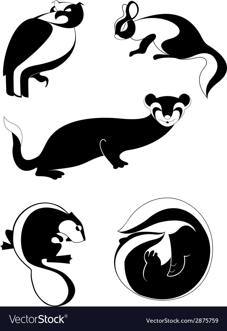 Original decor animal silhouettes collection vector