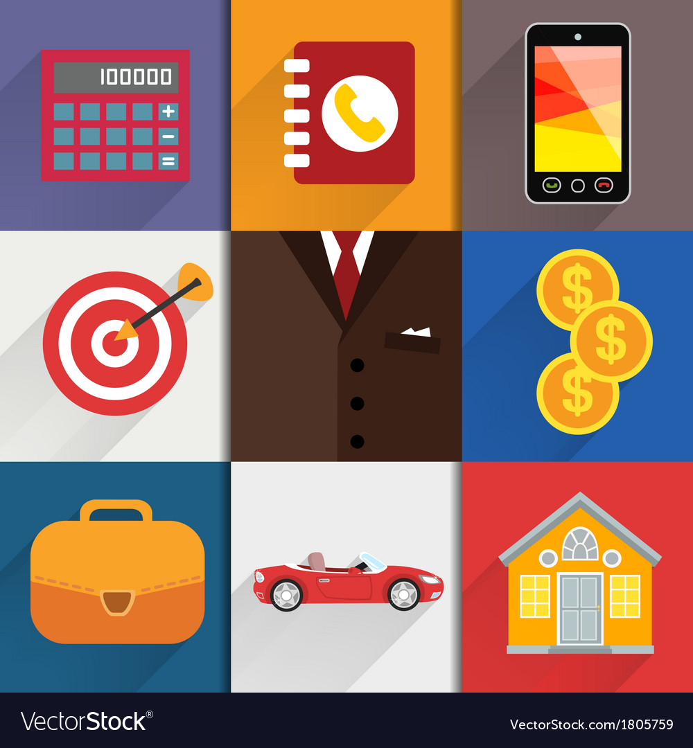 Web design elements with accounting icons vector