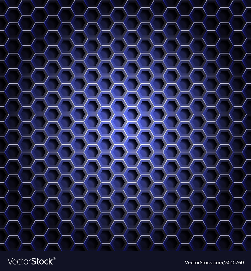 Realistic hexagonal grid background vector