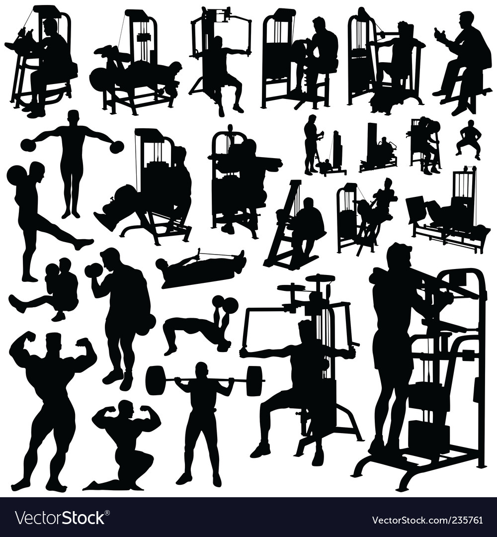 Fitness men vector