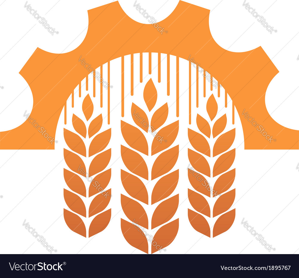 Industry and agriculture symbol vector