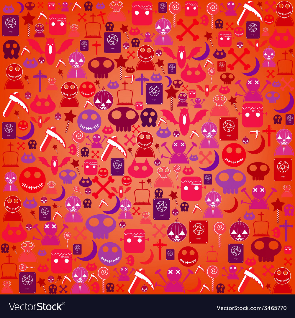 Halloween icon background vector