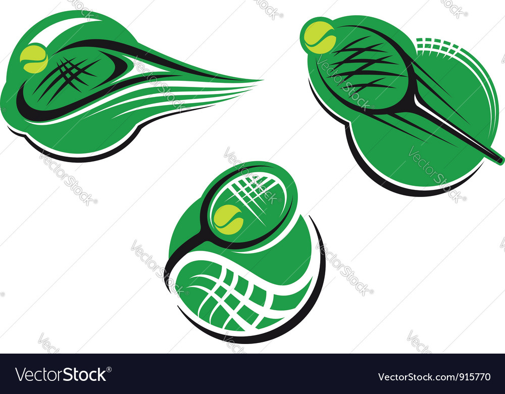 Tennis sports icons vector