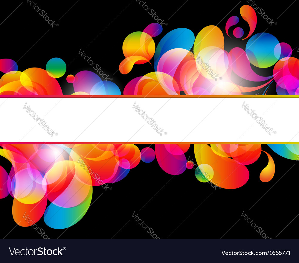 Card background abstract bright color drops and vector