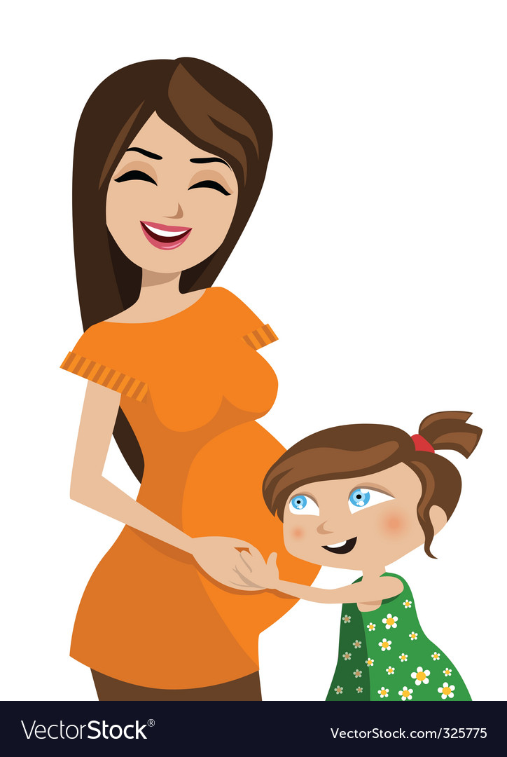 Mother and kid vector