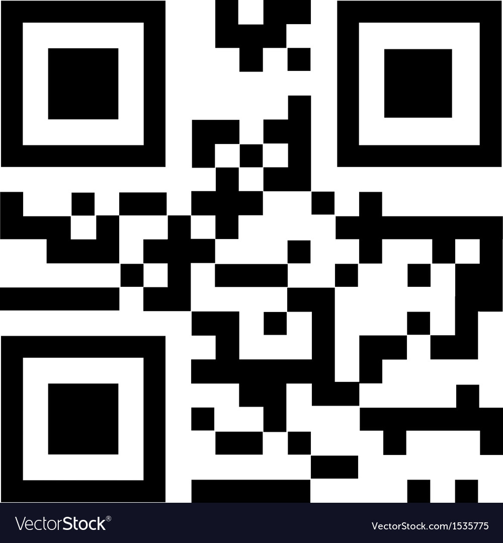 Qr code says thank you vector