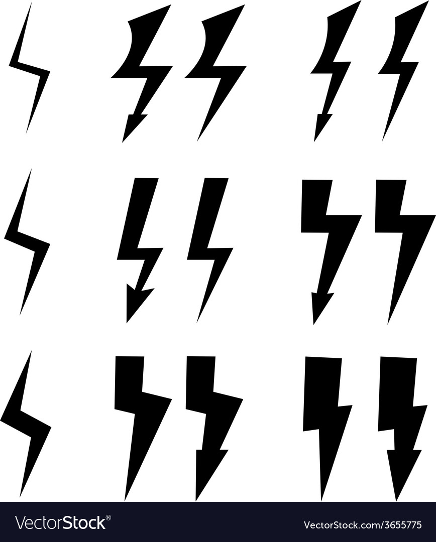 Signs of lightning vector